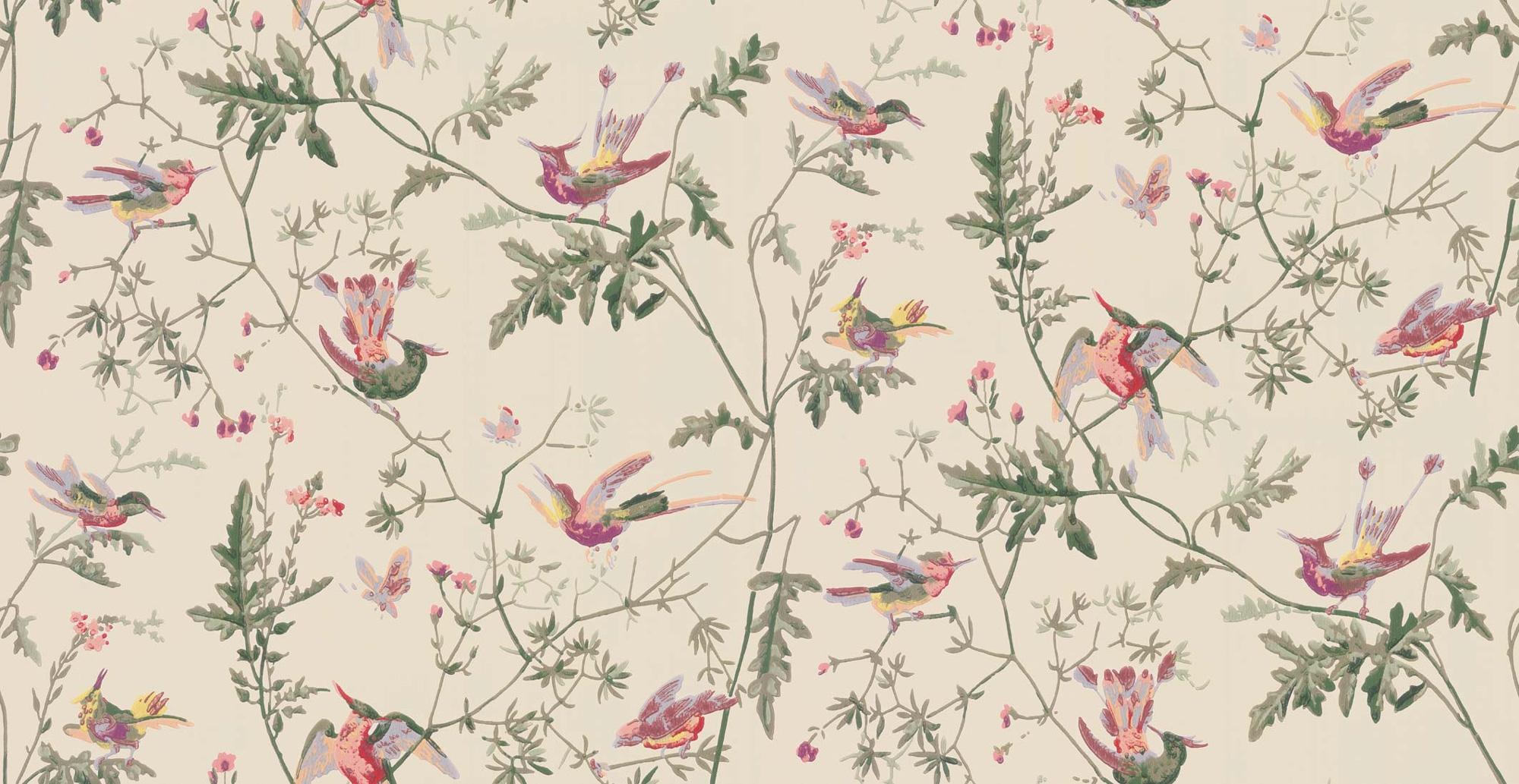 Image of   Hummingbirds - Creme