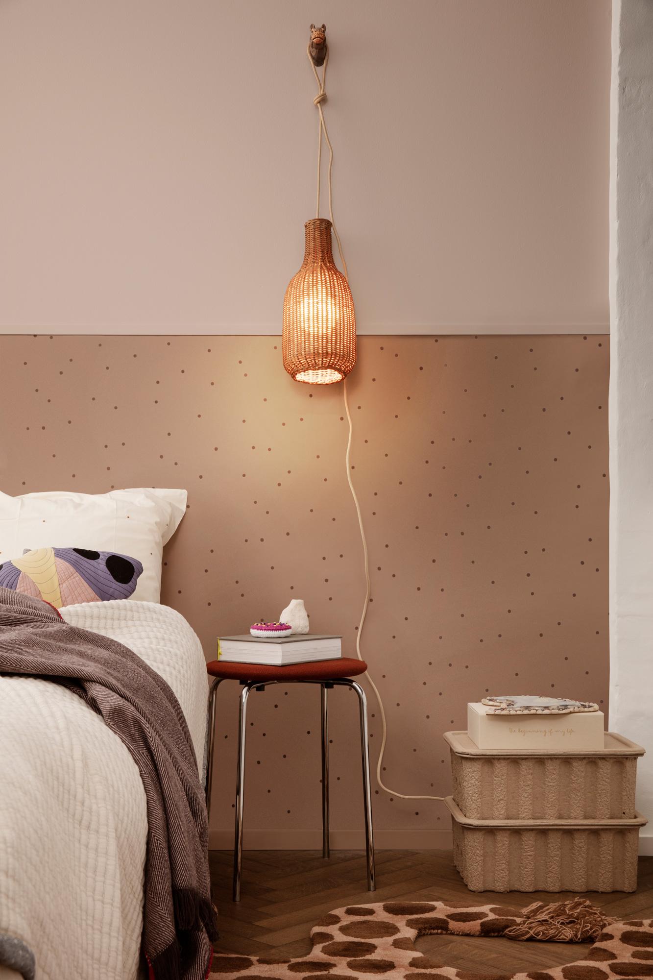 Image of   Dot Wallpaper - Dusty Rose