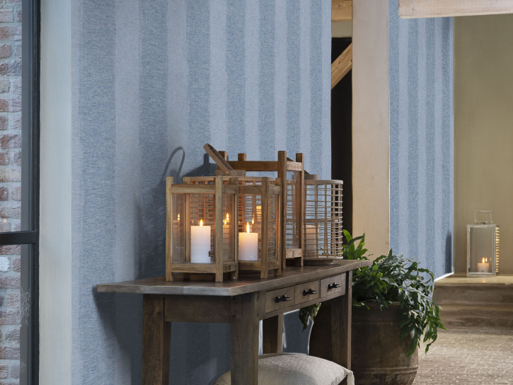 Image of   Anvers Linen Stripe - Blue