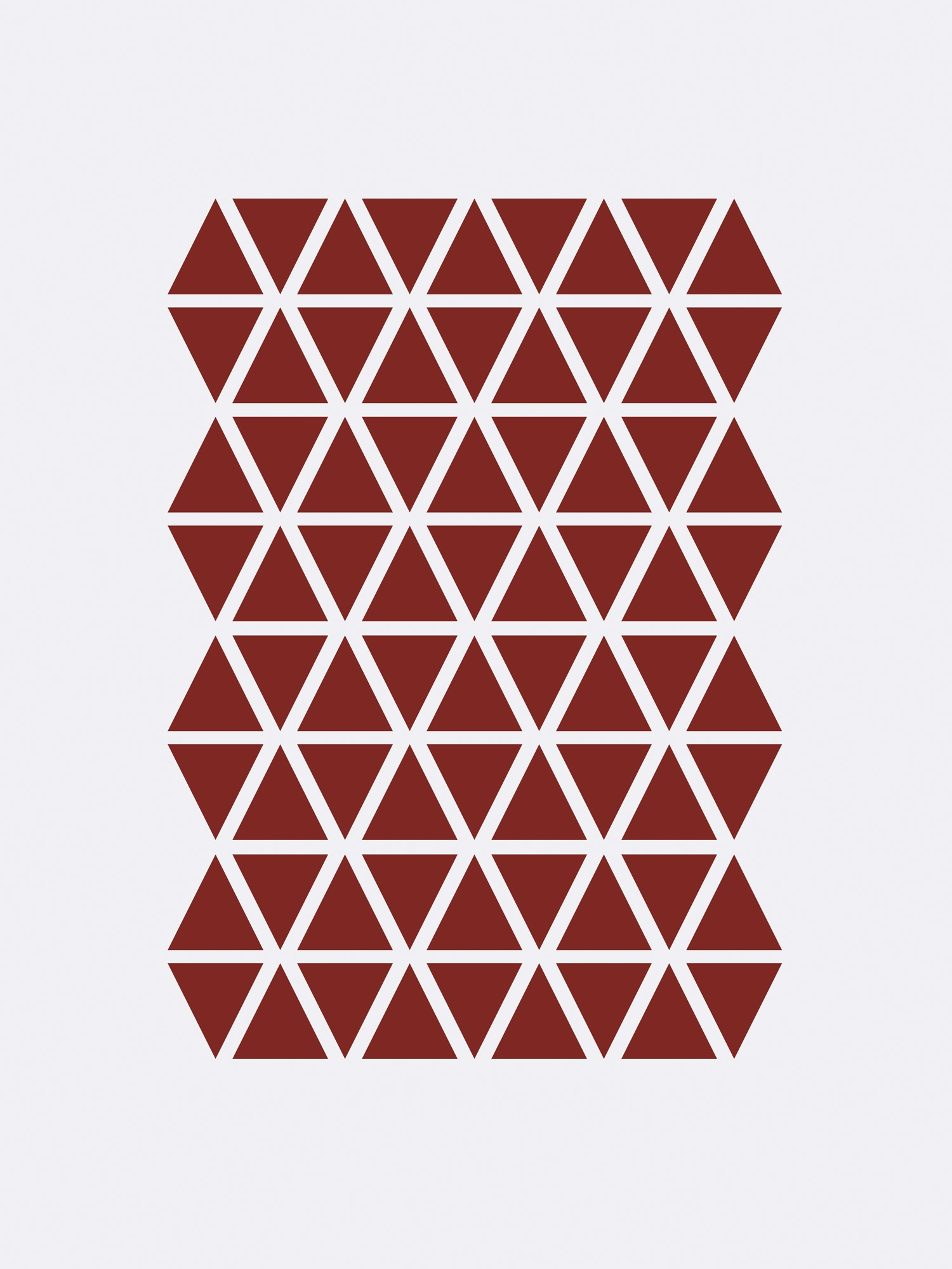 Image of   Mini Triangles - Red
