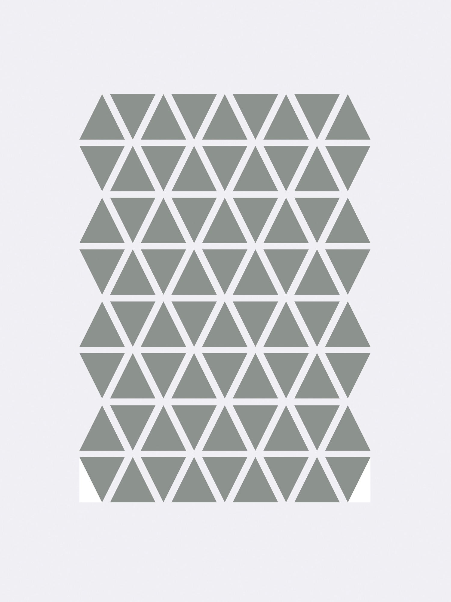 Image of   Mini Triangles - Grey