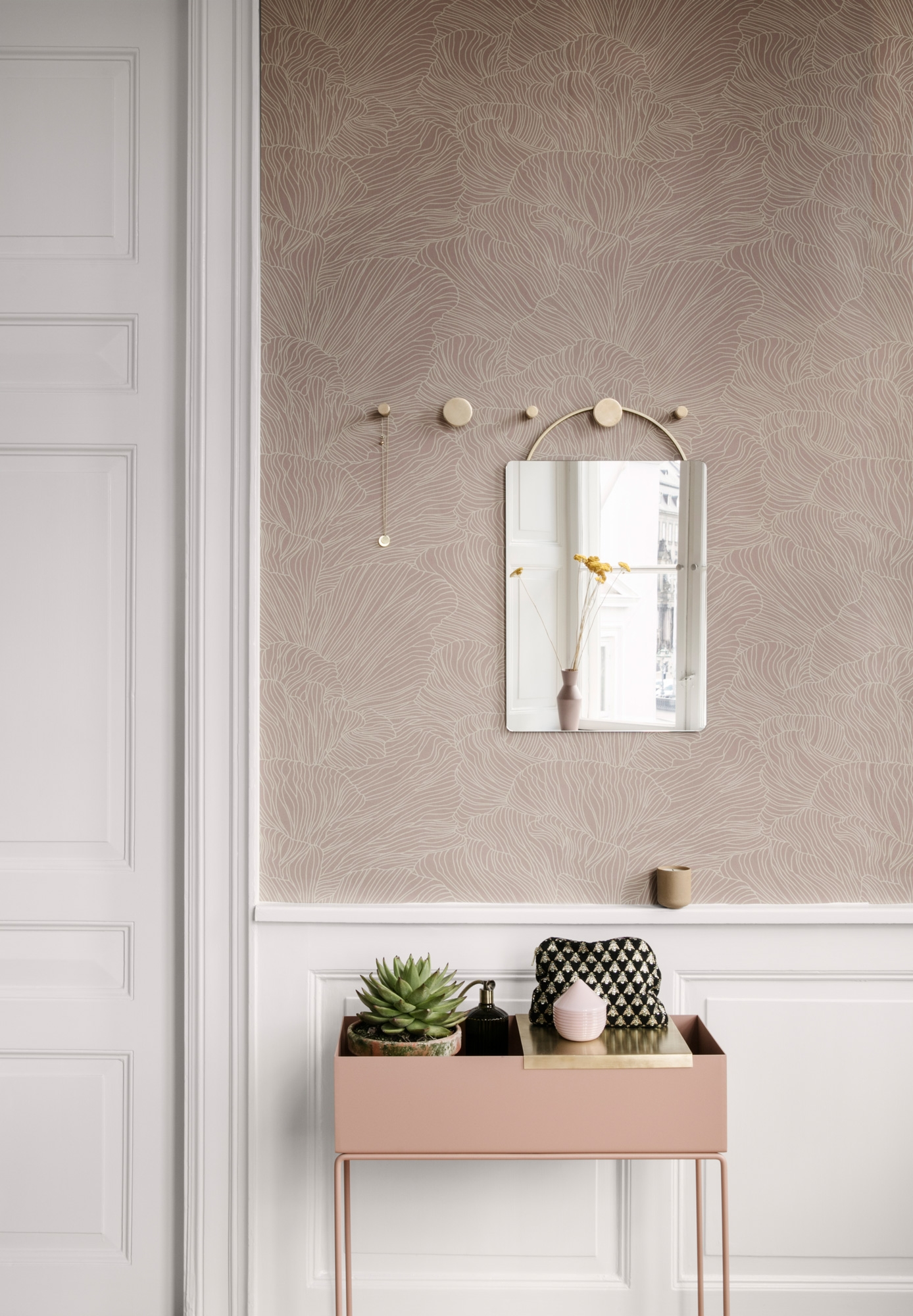 Image of   Coral - Dusty Rose/Beige