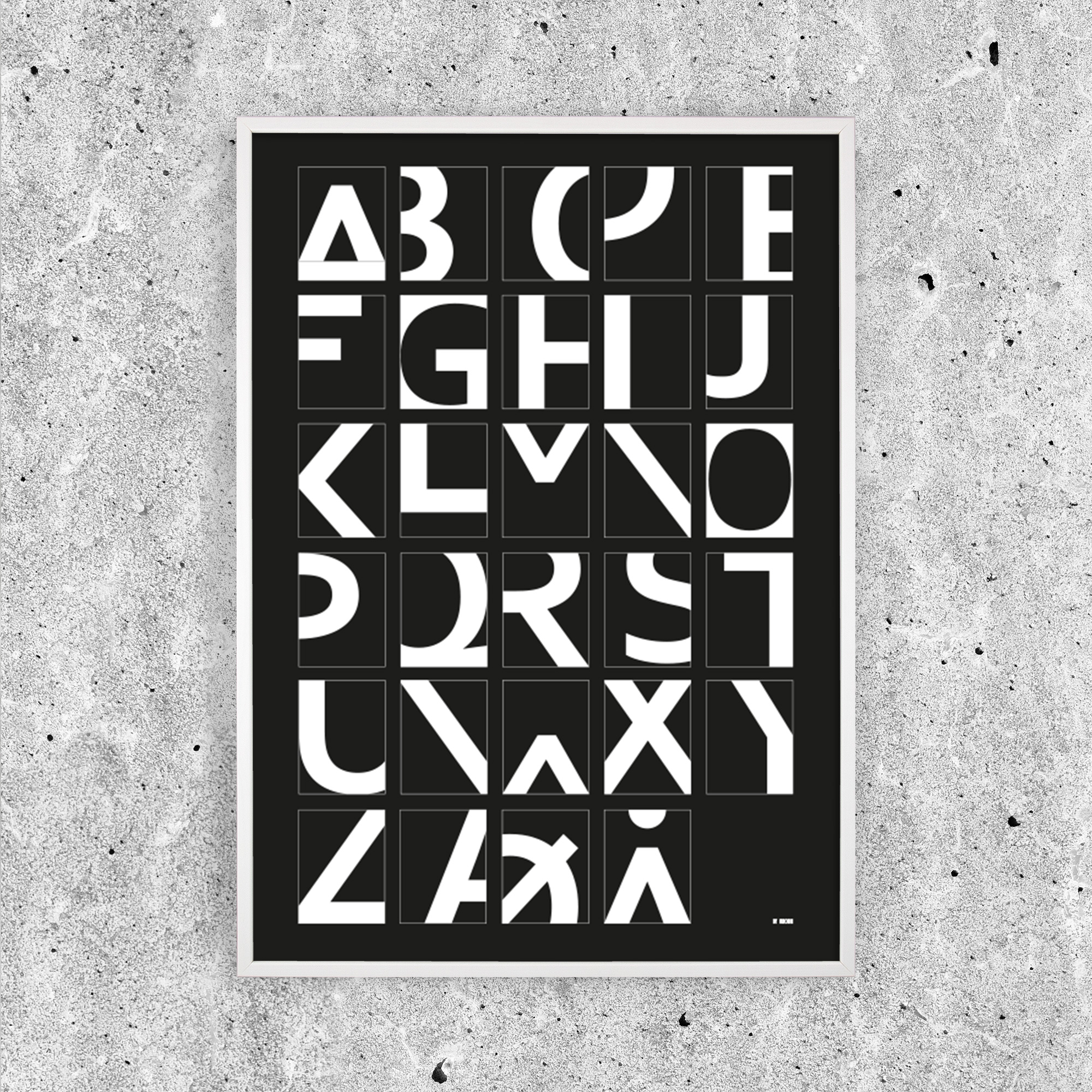 Image of   Alphabet - Black
