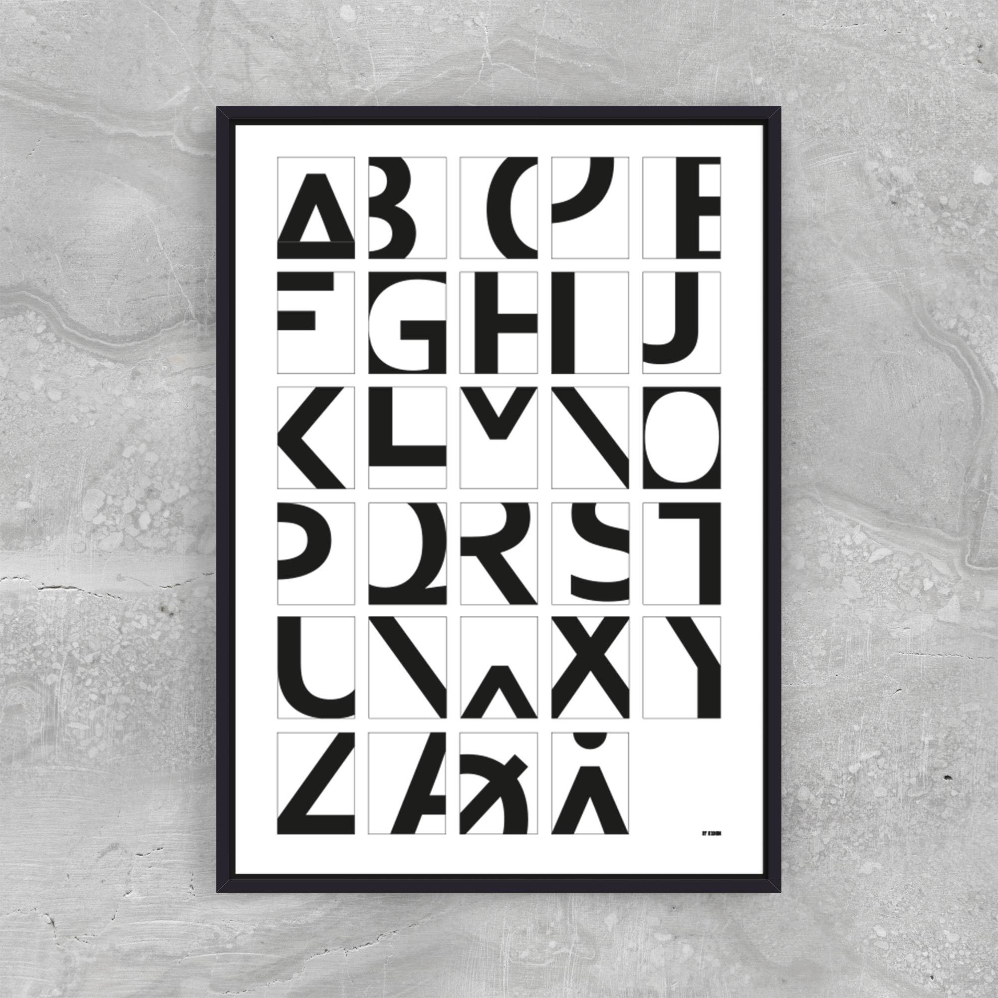 Image of   Alphabet - White