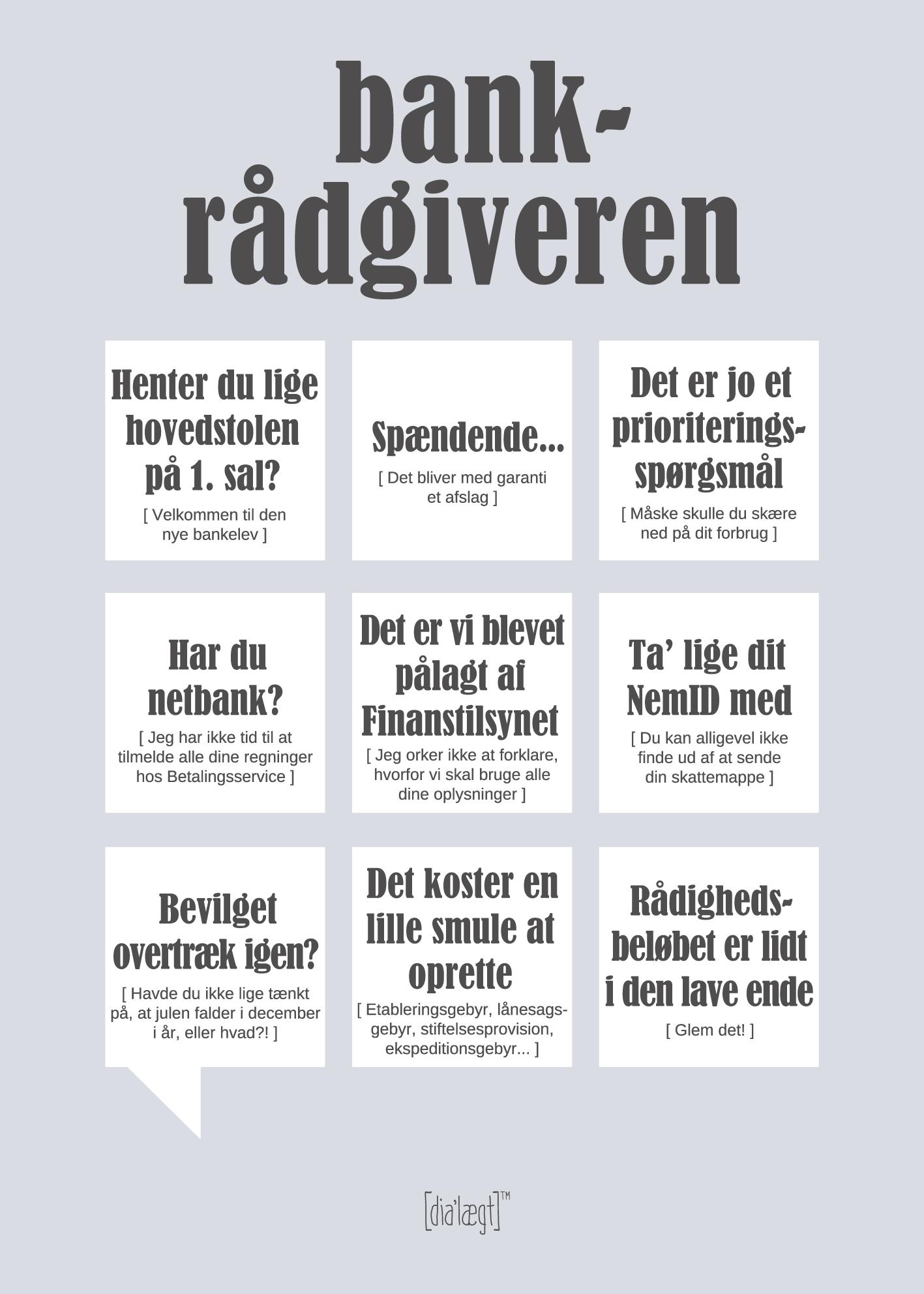 Image of   Bankrådgiveren-50 x 70
