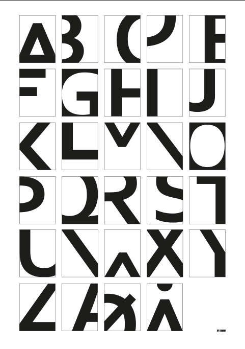 Image of   Alphabet - White-50 x 70