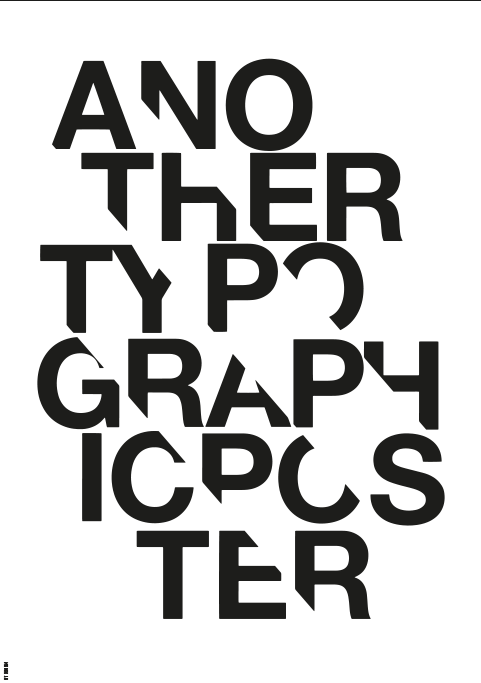 Image of   Another Typographical Poster - B/W-A3