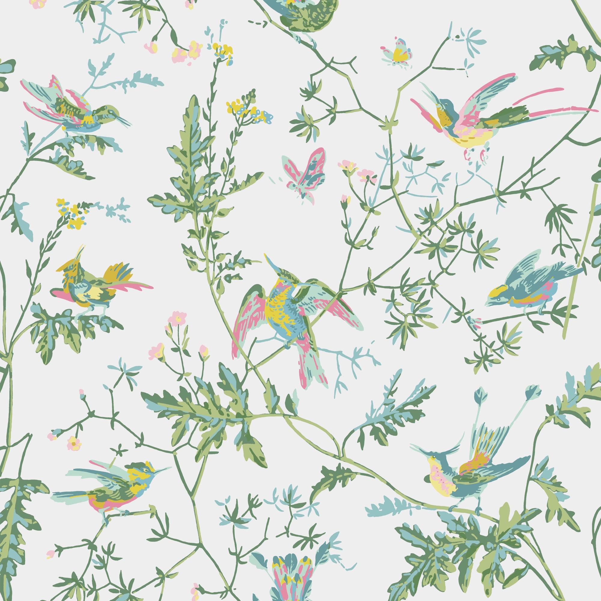 Image of   Hummingbirds - Green & Pink