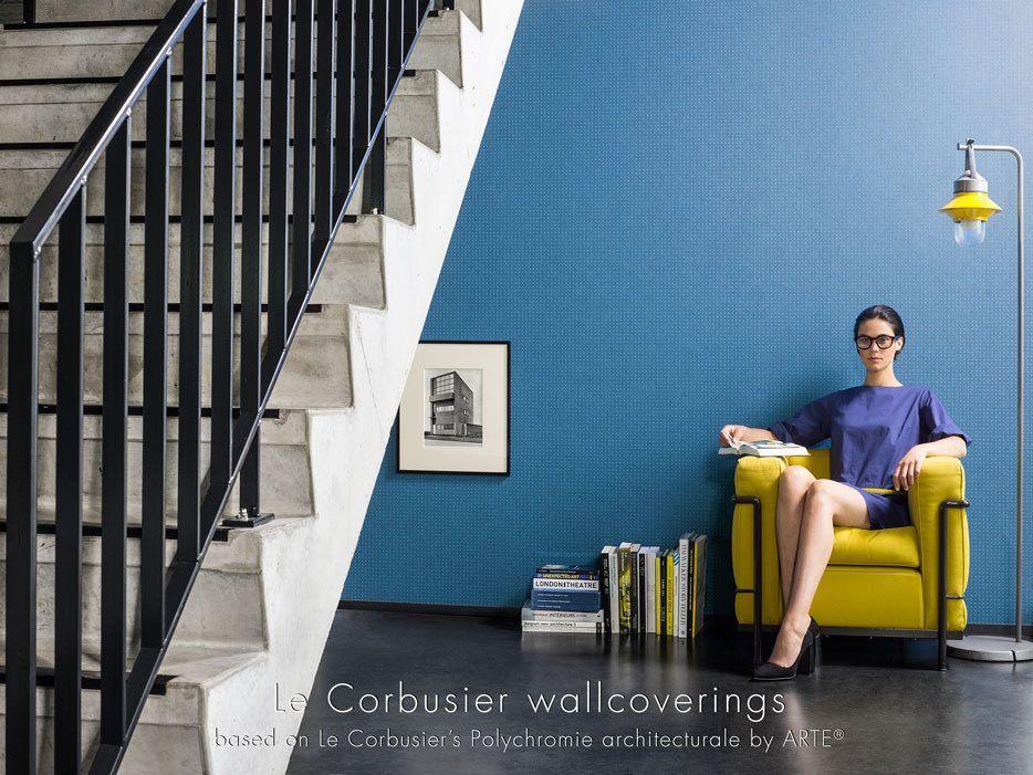 Blåt prikket tapet - Le Corbusier